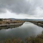 Chenal d'accès aux salins de Frontignan ; Photo C. Hugeux