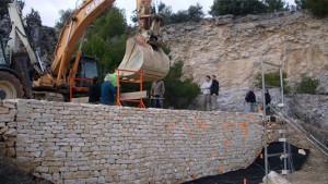 essai de résistance d'un mur de soutènement - source  laviers muraillers de Bourgogne
