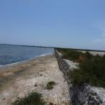 La jetée de l'étang d'Ingril ; photo C. Hugeux